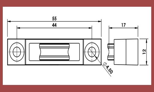 Upvc Window Spare Parts Manufacturers Upvc Window Striker Plates